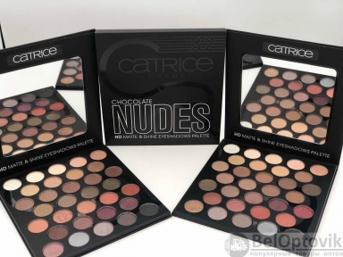 Палетка теней Catrice Cosmetics Chocolate NUDES HD Matte & Shine Eyeshadows Pallete 32 оттенка № ESCT-01 с зеркалом